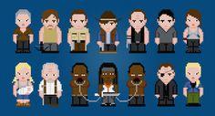 The Walking Dead TV Characters - Season 3 - Digital PDF Cross Stitch Pattern    This is a digital PDF file of a cross stitch pattern. You will