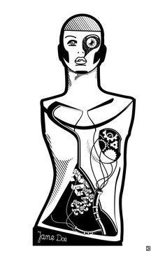 Jane Doe by Dorota Kraft http://www.lumarte.eu/en/dorota-kraft/01-w590 #dorotakraft #janedoe #graphics #illustration #digitalart #janedoe #lumarteartonline #lumarte #giclee #fineartprint #art #fineart