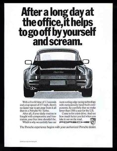 Porsche 911 Turbo 1989 advertisement