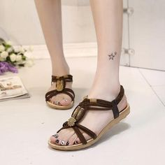 88e6966772c9 KUIDFAR Women Sandals Fashion Summer Shoes Women Gladiator Sandals Summer Beach  Shoes Female Ladies Sandals Zapatos Mujer Black