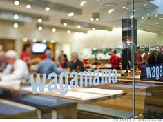 Wagamama is a trendy noodle place in London and definitely my all time favorite restaurant!