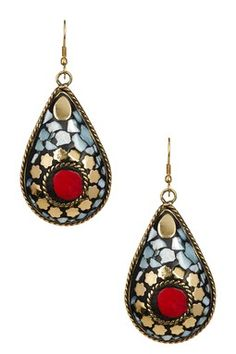 Teardrop  Mosaic  Earring
