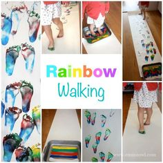 Rainbow Walking is such a wonderful art activity - that involves your children moving their whole bodies! You will love this!