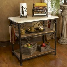 Inspired by the classic elegance of a beautiful Tuscan vineyard, this Siena Kitchen Island brings old world elegance to your kitchen, $1,716.00