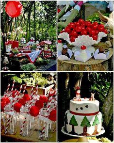Little Red Riding Hood Birthday Party with So MANY Cute IDEAS via Kara's Party Ideas   Kara'sPartyIdeas #LittleRedRidingCap #RedRidingHood #...
