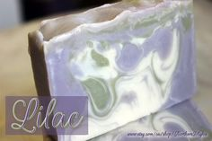 Lilac Handmade Soap, made with Olive Oil, Shea butter, Coconut Oil to name a few! :) Smells like a fresh summer bouquet of lilacs!  #HEPteam