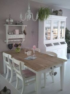 Shabby Chic Dining Room Ideas Images) - Home Magez Shabby Chic Dining Room, Home Furniture, House Interior, Chic Decor, Home, Diy Home Decor Projects, Chic Dining Room, Shabby Chic Furniture, Shabby Chic Dining