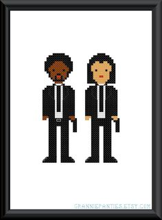 $4 pulp fiction cross stitch pattern