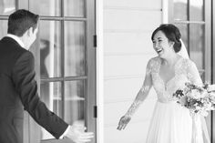 wedding day first look, must have bride and groom photos, must have wedding pictures  from a Charlottesville Virginia Pippin hill wedding by Katelyn James Photography
