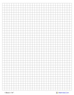 Standard Graphing Paper you may select either 1/10, 1/4, 3/8, 1/2 inch or 1 cm scales.