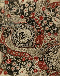Textile Design, 1971 (gouache on paper) by Nina Ivanovna Shirokova / Gamborg Collection