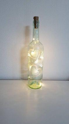 Deco Paint, Light Chain, Bottle Lights, Zen, Hand Painted, Vase, Etsy Shop, Make It Yourself, Decor