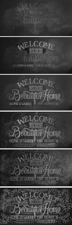 Chalk Typography by Valerie Waldbauer, via Behance
