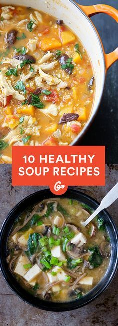 Stay toasty from the inside out with these delicious wintery soup recipes! #healthy #soup #recipes http://greatist.com/health/best-recipes-111813