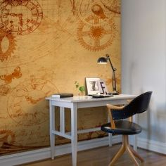 Time passes. Relax to the old clockwork ticking with this clock wall mural.