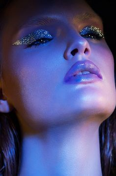 Image result for editorial makeup glitter