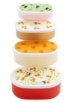 Berry Well Deserved Bento Box Set    I would use having a child as an excuse to buy these things...
