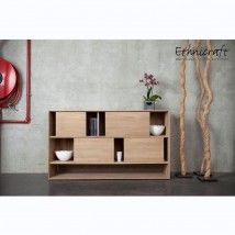 Ethnicraft Oak Nordic 4 Sliding Doors Low Rack