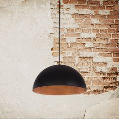 Industrial Rondure Ceiling Pendant Light – Black and Copper
