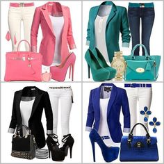 23 Spring Outfits That Always Look Great - Business Outfits for Work Cochella Outfits, Komplette Outfits, Blazer Outfits, Spring Outfits, Casual Outfits, Fashion Outfits, Womens Fashion, Fashion Trends, Trending Fashion