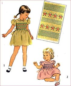 Simplicity 1842 Girls Dress with Bodice Smocking, Vintage Sewing Pattern Check Listings for Size Transfer Included Little Girl Dresses, Little Girls, Girls Dresses, Smocking Patterns, Sewing Patterns, Vintage Dress Patterns, Vintage Dresses, Princess Zelda, Disney Princess