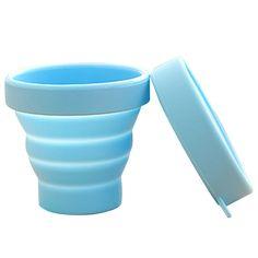 야외 식기 새로운 휴대용 실리콘 개폐식 접는 물 컵 여행 캠핑 망원경 축소 부드러운 마시는 컵