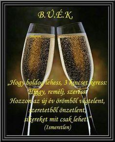Kívánságkosár added a new photo. New Years Eve, Evo, Happy New Year, Farmer, Champagne, Good Things, Tableware, Advent, Christmas