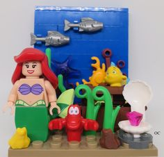 Lego Little Mermaid Ariel Minifigures Vignette 8x8 Under the Sea