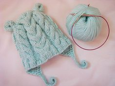 Newborn Earflap Beanie | The cutest knit baby hat you ever did see.