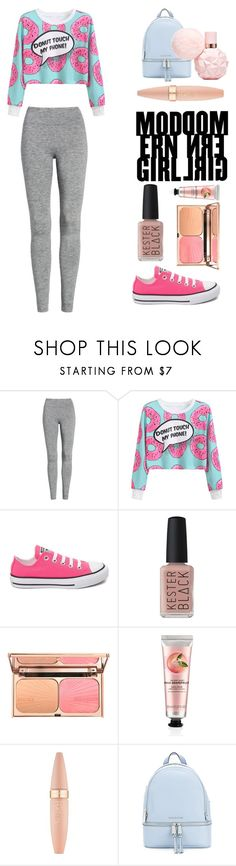 """""""Untitled #388"""" by izzwhizzicorn on Polyvore featuring Treasure & Bond, WithChic, Converse, Kester Black, The Body Shop, Maybelline and MICHAEL Michael Kors"""