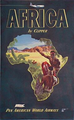 Africa by Clipper Pan American Airlines poster
