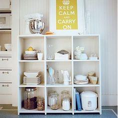 Stylish open storage in the kitchen