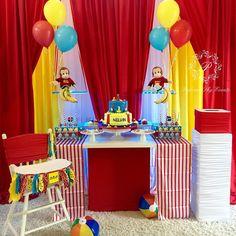 Nelvin's 1st Birthday #palomaskyevents #bostonevents #eventdecor #eventdecorators #eventdesigner #eventstylist #eventplanner #eventplanning #kidsbirthday #curiousgeorgeparty #curiousgeorge #fiestas #eleganceatitsbest Monkey Birthday Parties, First Birthday Party Decorations, Girl 2nd Birthday, It's Your Birthday, Birthday Ideas, Curious George Party, Curious George Birthday, Backdrops For Parties, Baby Shower