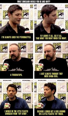 Jensen, Jim Beaver, and Misha red carpet interviews-There's a reason why Misha's my favorite :)