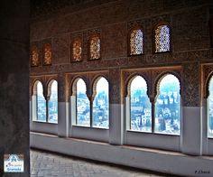 En el interior de los Palacios Nazaríes
