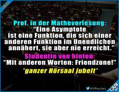 Asymptote gut erklärt :) #Studentenleben #lustig #Humor #Studentlife #Friendzone #Memes