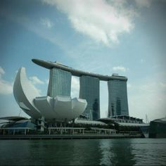 Those 3 buildings are Marina Bay Sands Luxury Hotel! Think we stayed on the 3oth Floor!