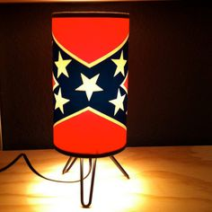 Rebel Flag Cocktail Lamp by moonbootprinting on Etsy, $125.00