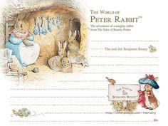 Beatrix Potter La Señora Conejo//Peter Rabbit Coser Motif Tejer//Coser//Artesanías//Tarjetas