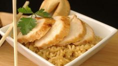 Salty, sweet, and delicious chicken breasts that are perfect to serve over rice. Try this recipe on the grill, too!