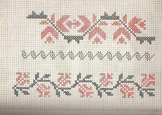 Motive Tulcea... Steluța Pârâu & Vasilica Topoleanu (1982) 3 Embroidery Patterns, Cross Stitch Patterns, Filet Crochet, Hand Stitching, Bookmarks, Bullet Journal, Traditional, Sewing, Knitting