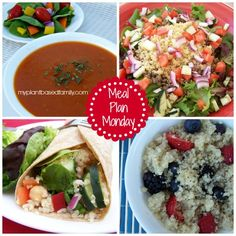 Meal Plan Monday: Full of Berries and Tomatoes fresh from the garden! Vegan and gluten-free!