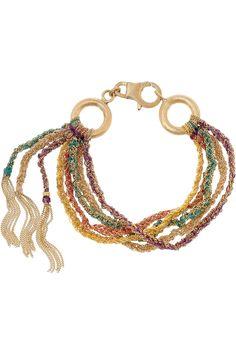 Carolina Bucci Lucky 18-karat gold multi-strand bracelet