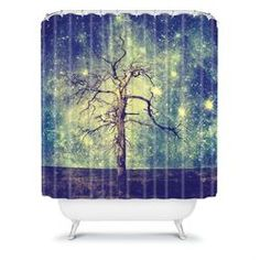 DENY Designs Belle13 As Old As Time Polyester Shower Curtain   Wayfair
