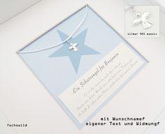 Weiteres - Taufgeschenk Schutzengel Bild Anhänger Stern - ein Designerstück von fuchswild bei DaWanda