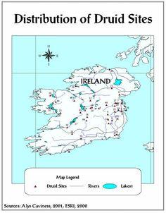 Druid sites in Ireland