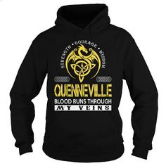 QUENNEVILLE Blood Runs Through My Veins (Dragon) - Last Name, Surname T-Shirt - #gifts for guys #coworker gift