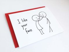 i like your face - valentine's day card