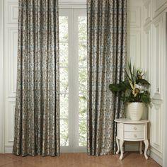 Classic Damask Energy Saving Curtain  #curtains #decor #homedecor #homeinterior #blue Cheap Curtains, Blue Curtains, Damask, Custom Made, Windows, Classic, Interior, Milan, Design