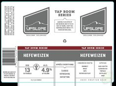 mybeerbuzz.com - Bringing Good Beers & Good People Together...: Upslope Tap Room Series - Hefeweizen 192oz Cans